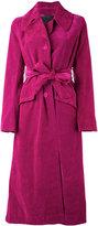 Marc Jacobs velvet coat - women - Cotton/Polyester/Viscose - 0