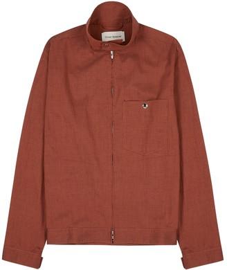 Oliver Spencer Carrington Terracotta Seersucker Jacket