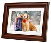 "Polaroid Digital Photo Frame 10"" Premium Wood Frame with Mat"