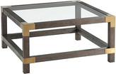 clear Ta Studio Morrison Coffee Table - Cardamon - TA Studio - frame, cardamon; glass, clear; hardware, brushed brass