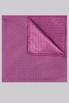 Moss Bros Fuchsia Geo Silk Pocket Square