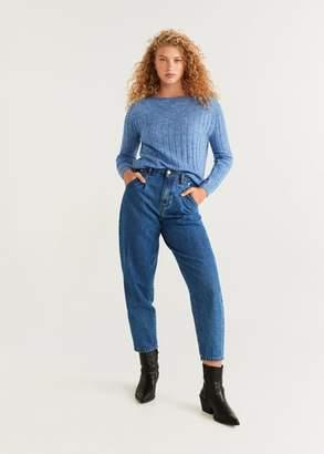 MANGO Ribbed knit sweater blue - XXS - Women