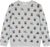 Stella McCartney Biz helmet print organic cotton jumper 4-16 years