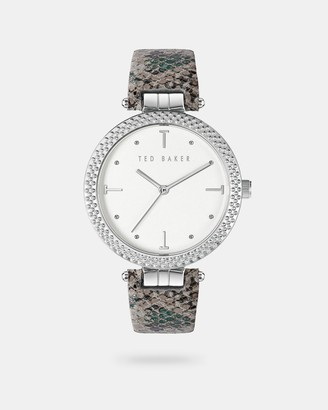 Ted Baker Snake Effect Leather Strap Watch