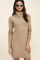 BB Dakota Collins Taupe Sweater Dress