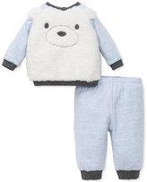 Little Me 2-Pc. Fuzzy Fleece Bear Face Top and Pants Set, Baby Boys (0-24 months)