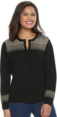 Croft & Barrow Women's Cozy Button-Front Cardigan