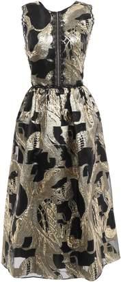 Marchesa Cutout Fil Coupe Chiffon Midi Dress