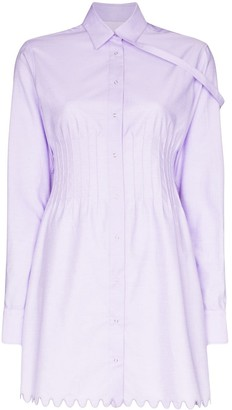 Coperni Pin-Tuck Shirt Dress