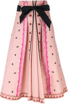 Temperley London Poppy Field skirt