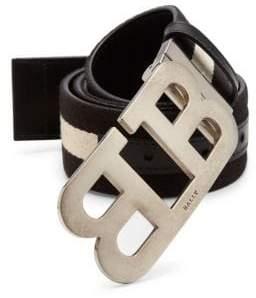 Bally Mirror B Canvas Leather Belt
