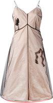 Quetsche - sheer layered flared dress - women - Silk/Polyester - 34