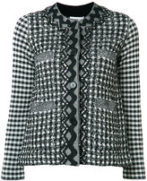 Sonia Rykiel gingham plaid tweed jacket - women - Cotton/Polyamide/Viscose/Virgin Wool - L