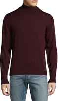 Luciano Barbera Men's Solid Wool Sweater