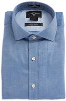 Black Brown 1826 Textured Point Collar Dress Shirt
