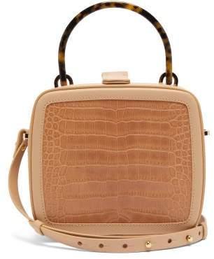 BEIGE Nico Giani - Tunilla Crocodile Embossed Leather Box Bag - Womens