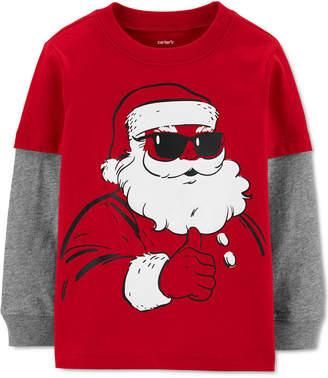 Carter's Carter Baby Boys Layered-Look Santa T-Shirt