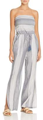 Surf.Gypsy Striped Tie-Back Jumpsuit Swim Cover-Up