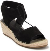 Eileen Fisher Agnes Espadrille Suede Wedge Sandal