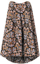 Caroline Constas Embroidered Bustier Dress