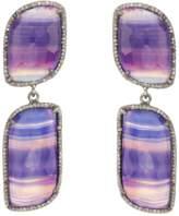 ADORNIA Purple Agate And Champagne Diamond Paloma Earrings.