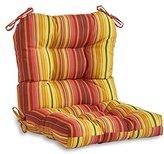 Greendale Home Fashions Indoor/Outdoor Seat/Back Chair Cushion, Kinnabari Stripe