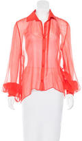 Alexis Silk Button-Up Top w/ Tags