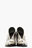 Jil Sander Silver Leather Cut-Out Runway Heels