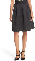 Ted Baker Mansii Bow Detail Tonal Plaid Full Skirt