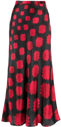 Marni Geometric Print High-Waisted Skirt
