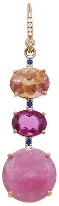 Irene Neuwirth One-Of-A-Kind Multi-Color Tourmaline Sapphire Rose Gold Single Earring