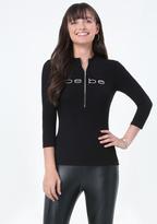 Bebe Logo Zip Up Top