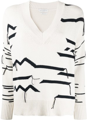 Ballantyne Abstract Patterned Distressed Effect Jumper