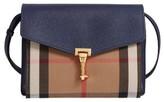 Burberry Small Macken House Check Crossbody Bag - Blue