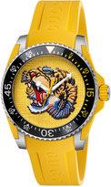 Gucci Unisex Swiss Drive Yellow Rubber Strap Watch 40mm YA136317