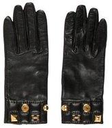 Hermes Leather Logo Charm Gloves