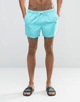 Asos Swim Shorts In Turquoise Short Length