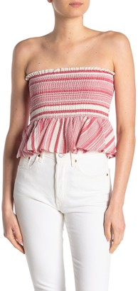 Hyfve Stripe Smocked Tube Top