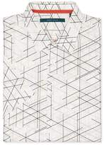 Perry Ellis Big and Tall Short Sleeve Graphic Linear Print Shirt