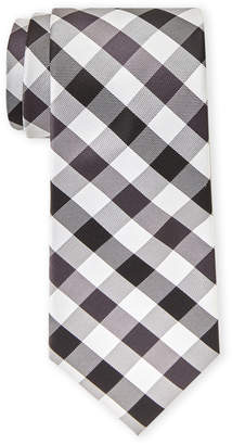 Tommy Hilfiger Grey Big Gingham Tie