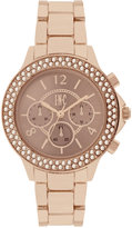 INC International Concepts Women's Chronograph Gold-Tone/Rose Gold-Tone Bracelet Watch 36mm IN023RG, Only at Macy's
