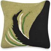 Liora Manné Frontporch Woof Square Throw Pillow in Green
