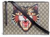 Gucci 'Angry Cat' print GG Supreme canvas messenger bag