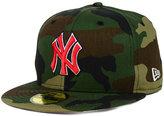 New Era New York Yankees Under Woodland 59FIFTY Cap