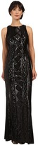 Adrianna Papell Sleeveless Cable Sequin Gown