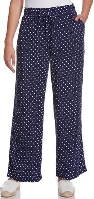 Rafaella Women's Polka Dot Pull-On Soft Pants
