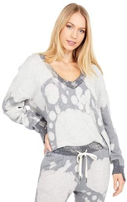 n:philanthropy Aries Tie-Dye Sweatshirt (Heather Grey) Women's Clothing