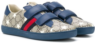 Gucci Kids TEEN Ace GG stars sneakers