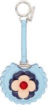Fendi Blue Flowerland Mirror Keychain