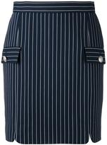 Pierre Balmain striped skirt - women - Cotton/Polyimide/Spandex/Elastane - 34